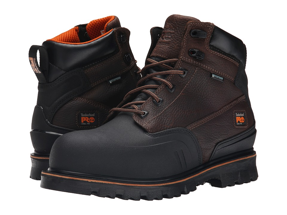 Timberland PRO 6 Rigmaster XT Steel Safety Toe Waterproof (Brown Tumbled Leather) Men