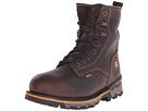 8 Boondock Plain Toe Soft Toe Waterproof Insulated (Brown Tumbled Leather)