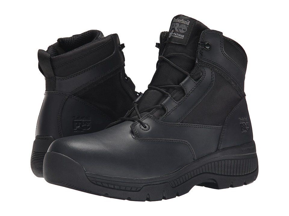 Timberland PRO - 6 Valortm Duty Soft Toe Side-Zip (Black) Mens Work Lace-up Boots