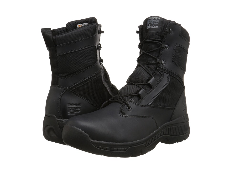 Timberland PRO 8 Valor Duty Soft Toe Side-Zip (Black) Men
