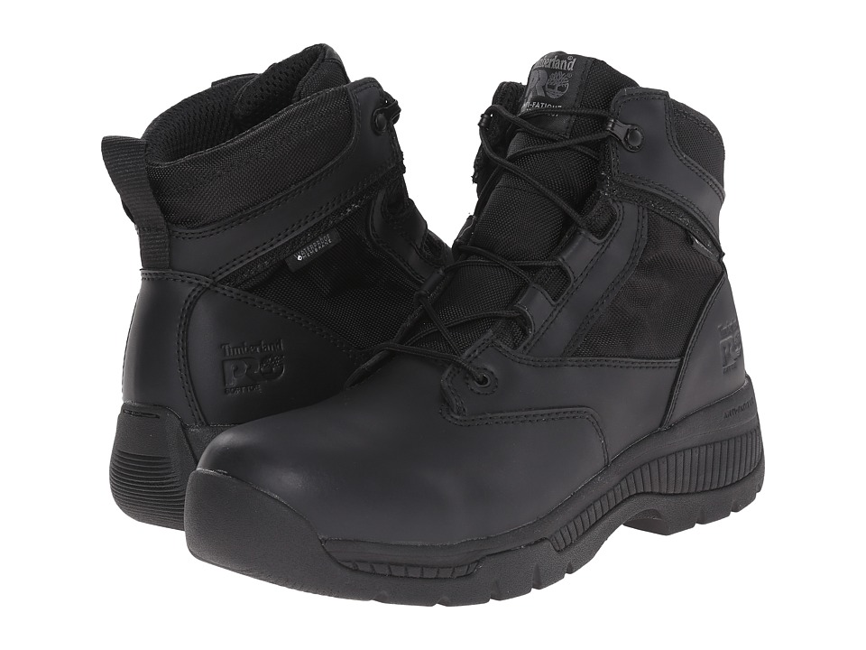 Timberland PRO - 6 Valortm Duty Soft Toe Waterproof (Black) Mens Work Lace-up Boots
