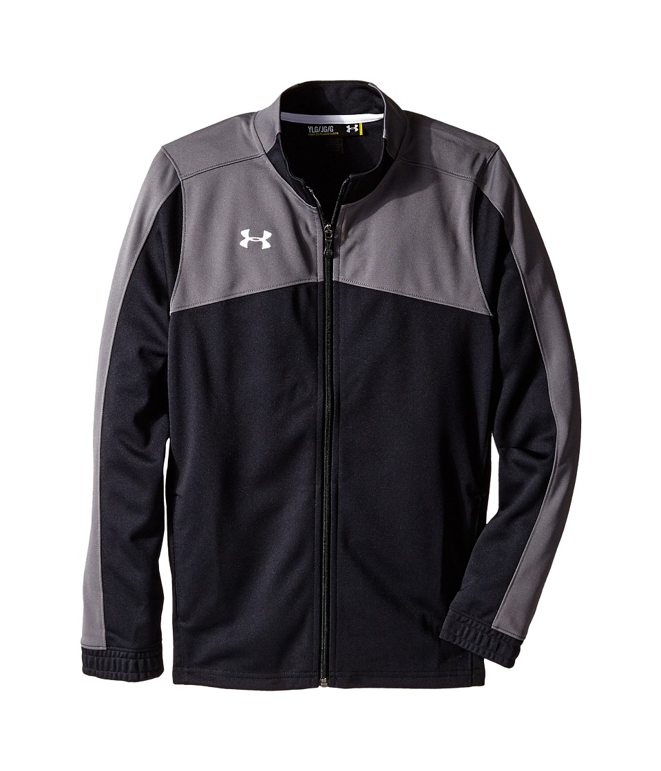 Under Armour Kids - UA Futbolista Jacket (Big Kids) (Black/Black/White) Boys Coat