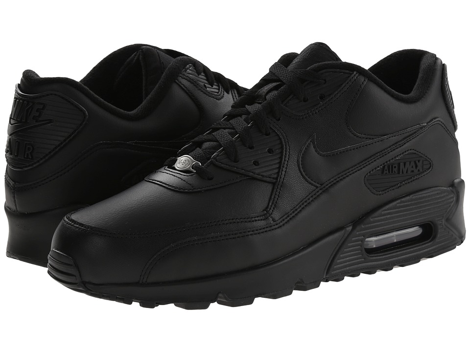 Nike - Air Max 90 Leather (Black/Black) Men