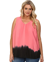 DKNYC - Plus Size Vertical Pleat Front Blouse