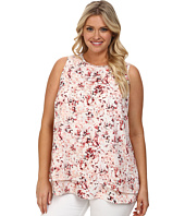 DKNYC - Plus Size Embellished Double Layer Tank Top
