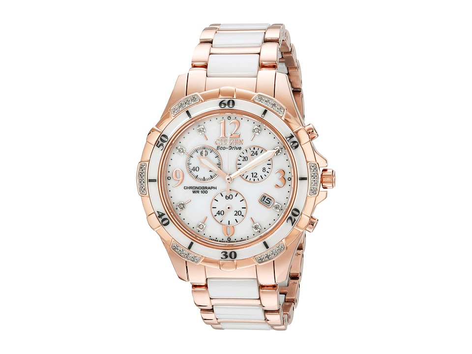 Citizen Watches FB1233 51A Ceramic Pink Gold Tone Stainless Steel Watches