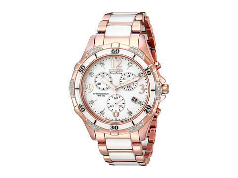 Citizen Watches FB1233-51A Ceramic - Pink Gold Tone Stainless Steel