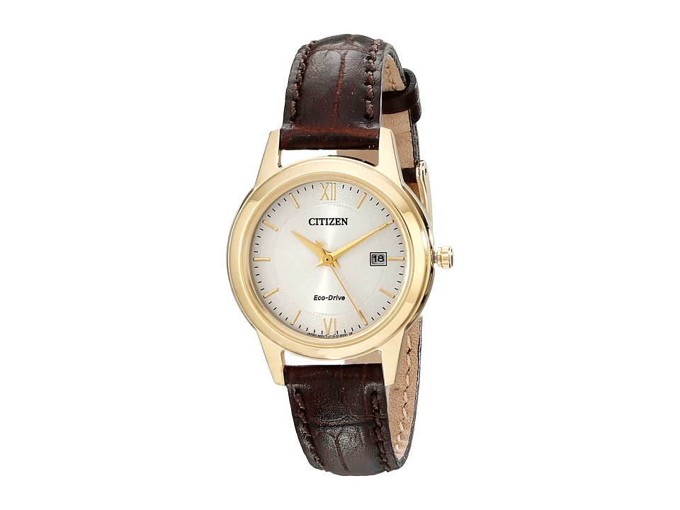 Citizen Watches FE1082 05A Ladies Straps Gold Tone Stainless Steel Watches