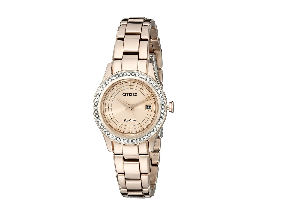 Citizen Watches - FE1123-51Q Silhouette Crystal (Pink Gold Tone Stainless Steel) Watches
