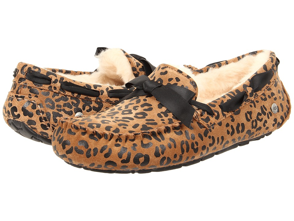 UGG - Dakota Leopard Bow (Chocolate Satin) Women