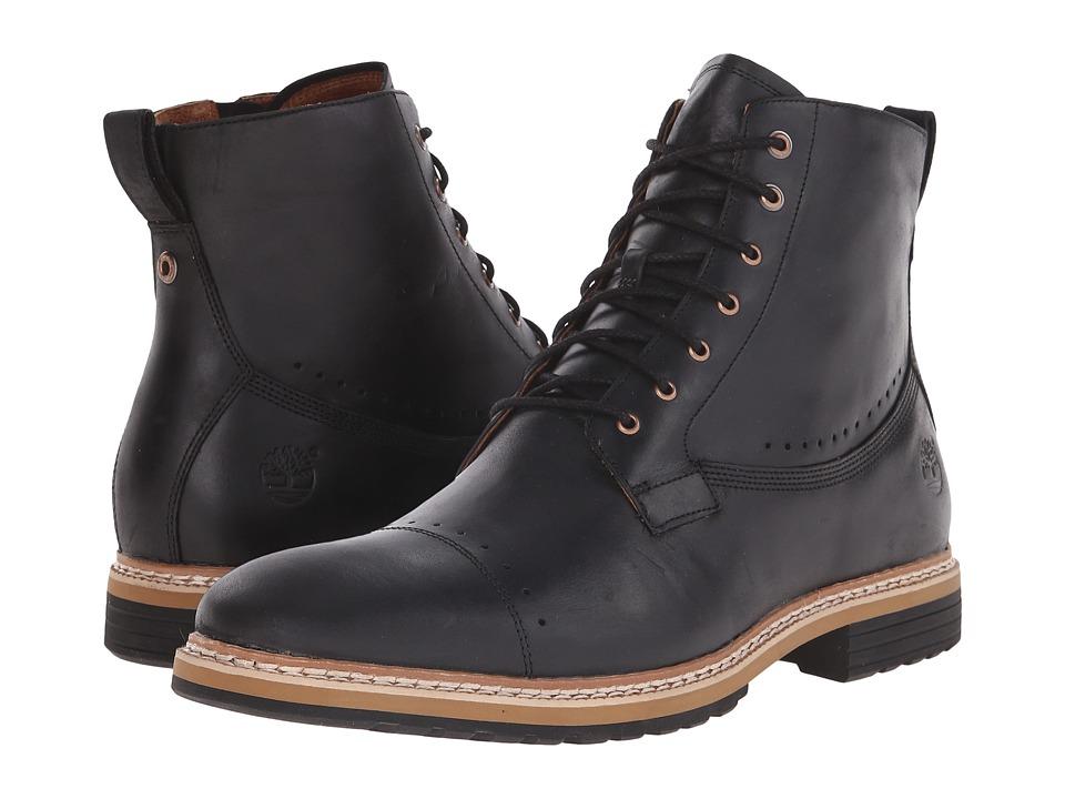 Timberland - West Haven 6 Side Zip Boot (Black Full Grain) Men