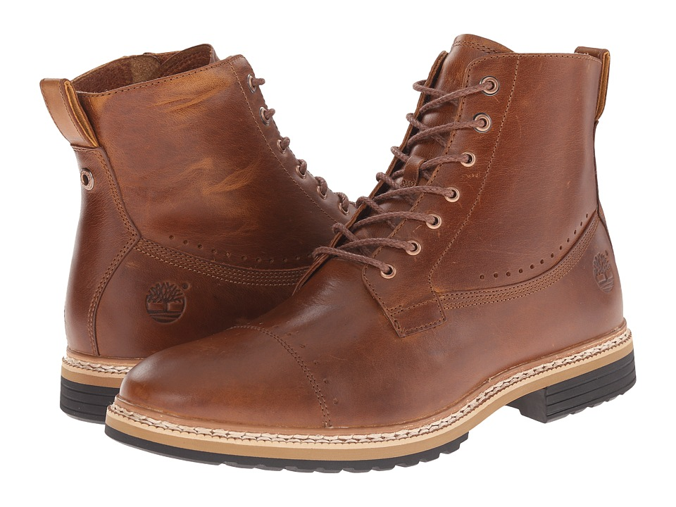 Timberland - West Haven 6 Side Zip Boot (Tan Full Grain) Men