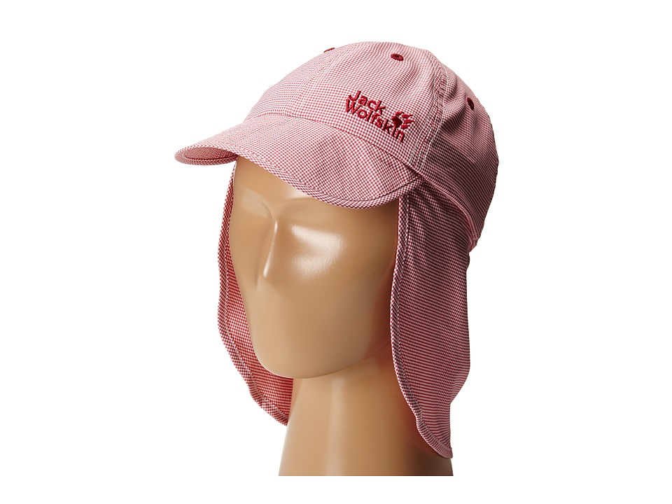 Jack Wolfskin Kids Desert Sun Hat Little Kid/Big Kid Azalea Red Checks Caps