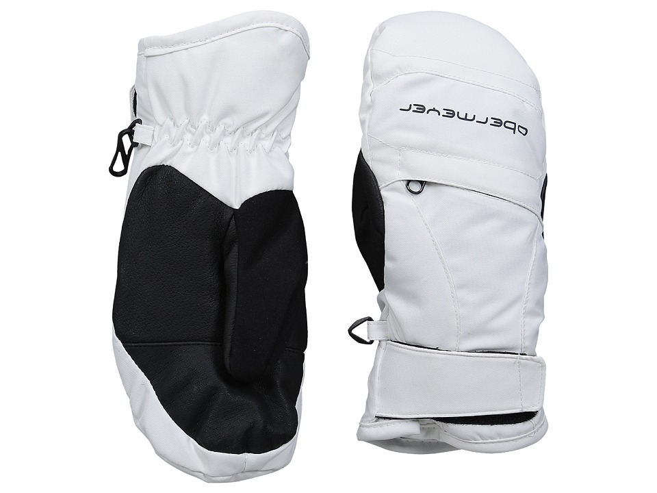 Obermeyer Kids Radiator Mitten Little Kid/Big Kid White Over Mits Gloves
