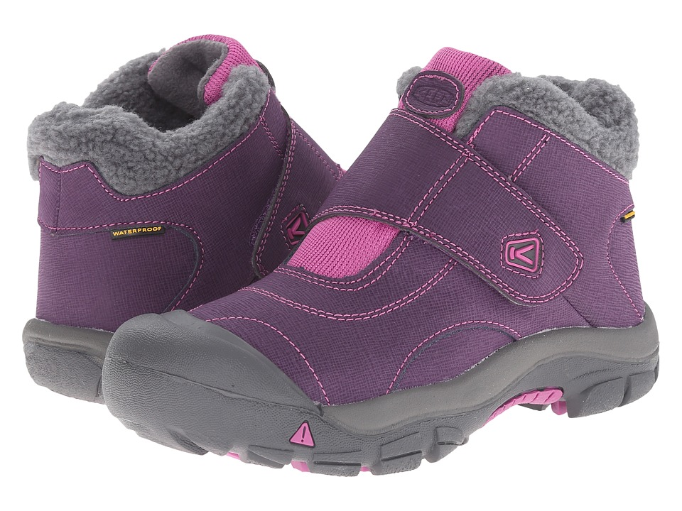 Keen Kids - Kootenay WP (Little Kid/Big Kid) (Wineberry/Dahlia Mauve) Girls Shoes
