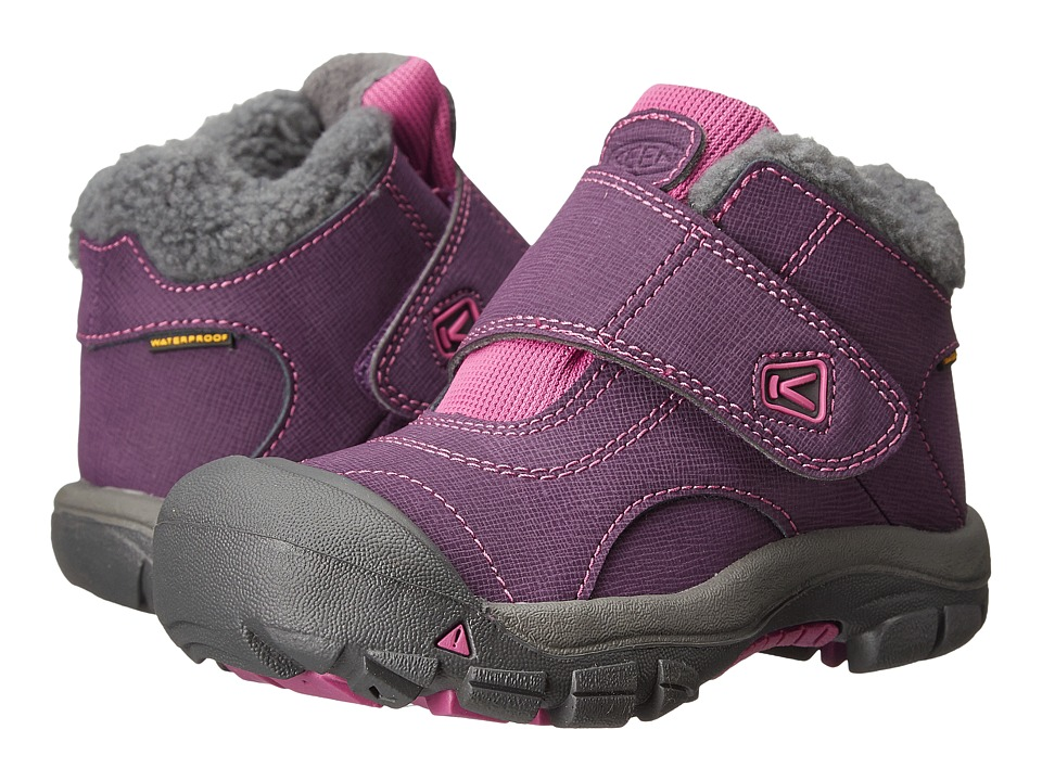 Keen Kids Kootenay WP (Toddler/Little Kid) (Wineberry/Dahlia Mauve) Girls Shoes