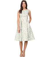 Adrianna Papell - Sleeveless Floral Metallic Jacquard Party Dress
