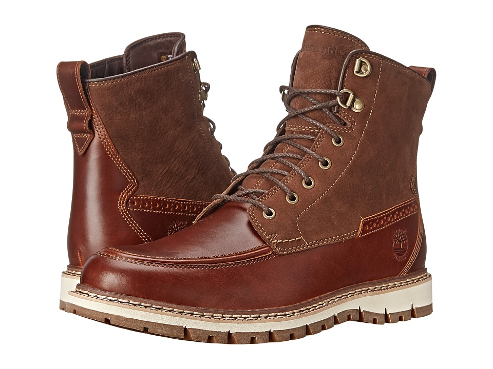 Timberland Britton Hill Waterproof Moc Toe Boot (Chestnut Quartz/Buttersoft) Men