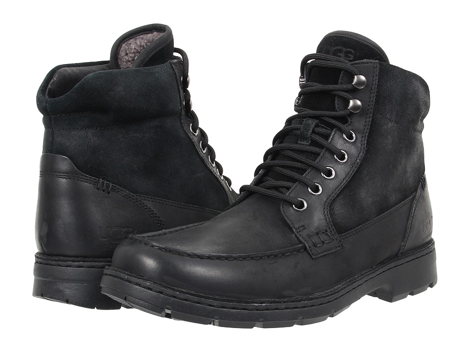 UGG - Barrington (Black Leather) Men