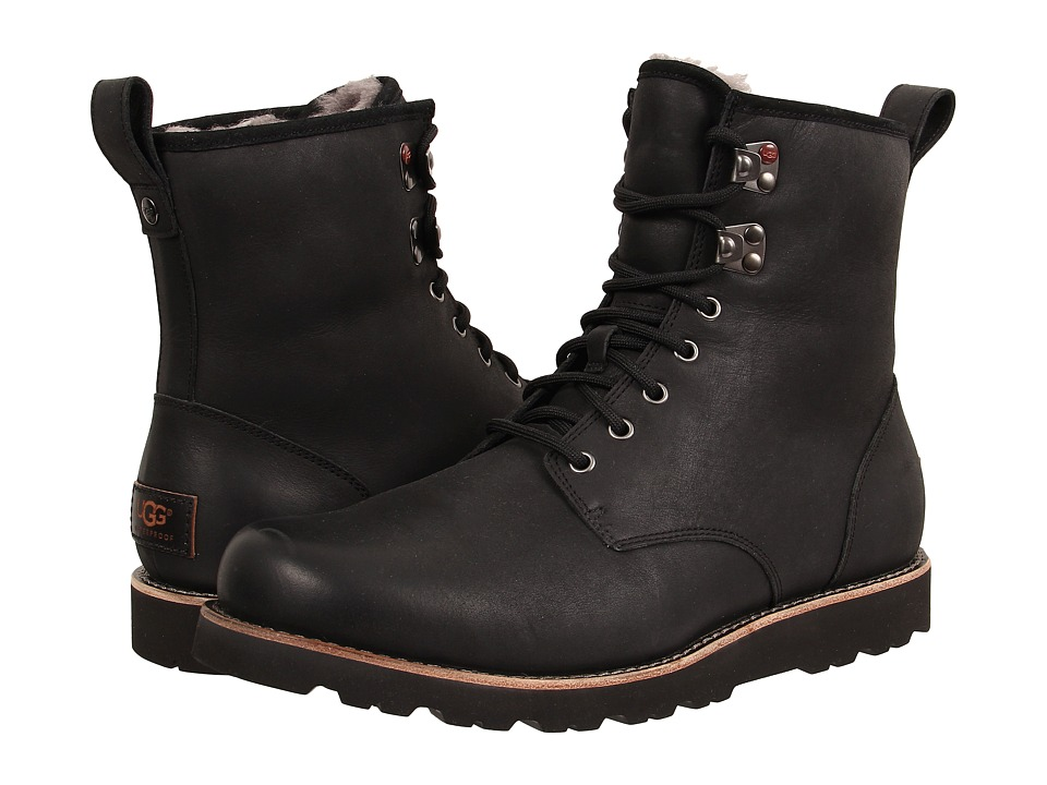 Ugg Hannen TL (Black Leather) Men's Lace-up Boots