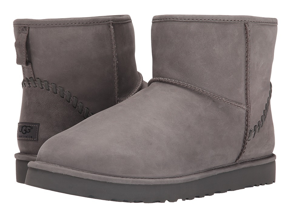 UGG - Classic Mini Deco Capra (Grey Leather) Men