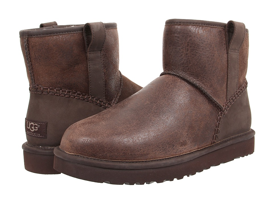 UGG - Classic Mini Stitch (Stout Leather) Men