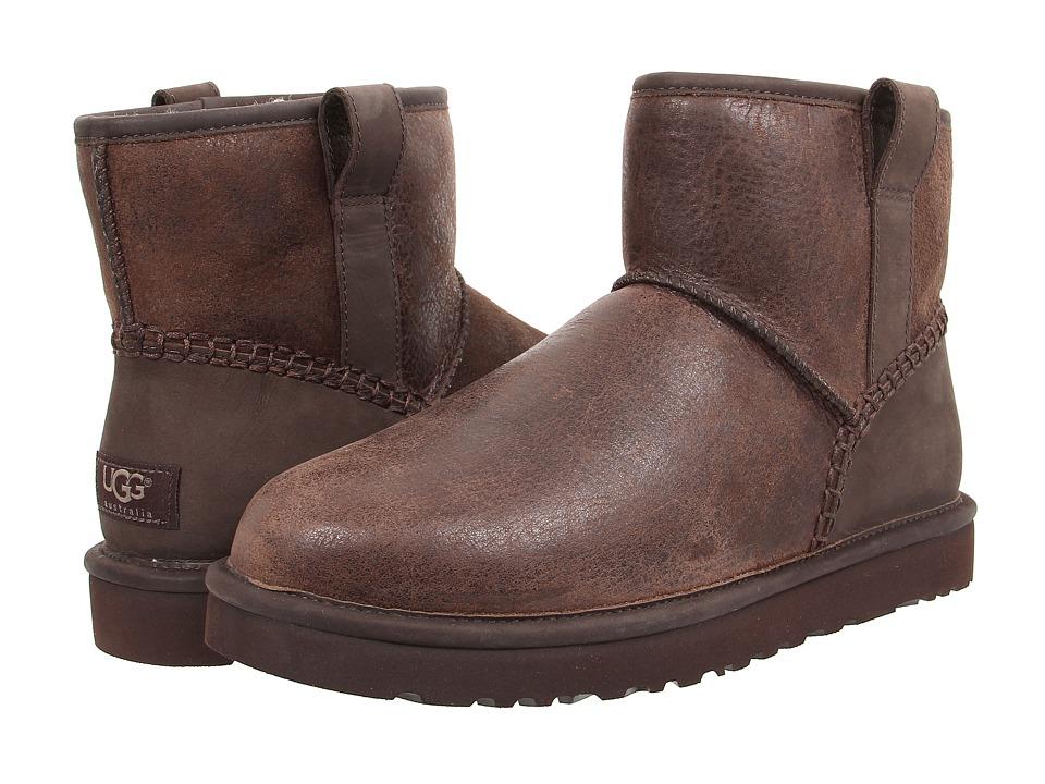 UGG - Classic Mini Stitch (Stout Leather) Men
