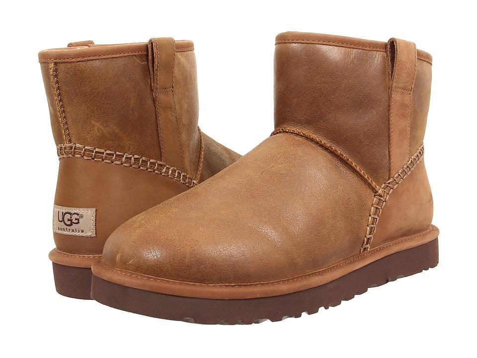 UGG - Classic Mini Stitch (Chestnut Leather) Men