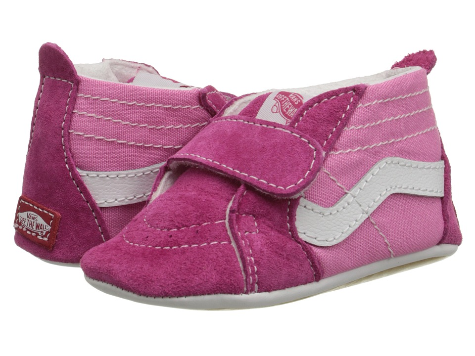 Vans Kids SK8-Hi Crib (Infant/Toddler) (Pink/Hot Pink) Girls Shoes