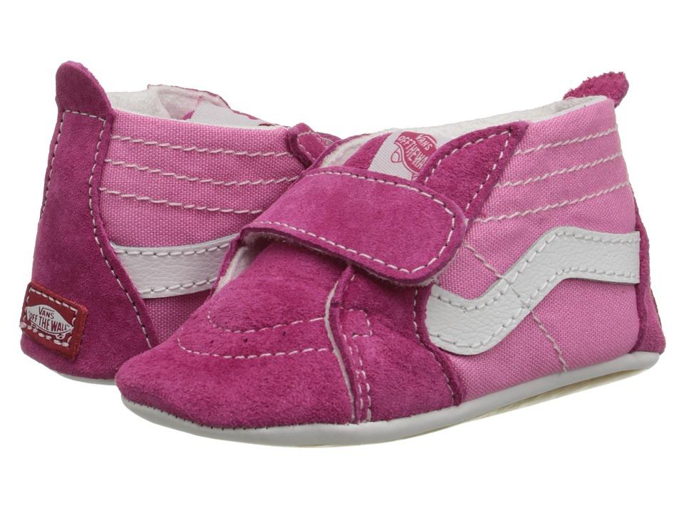 Vans Kids SK8-Hi Crib (Infant/Toddler) (Pink/Hot Pink) Girls Shoes