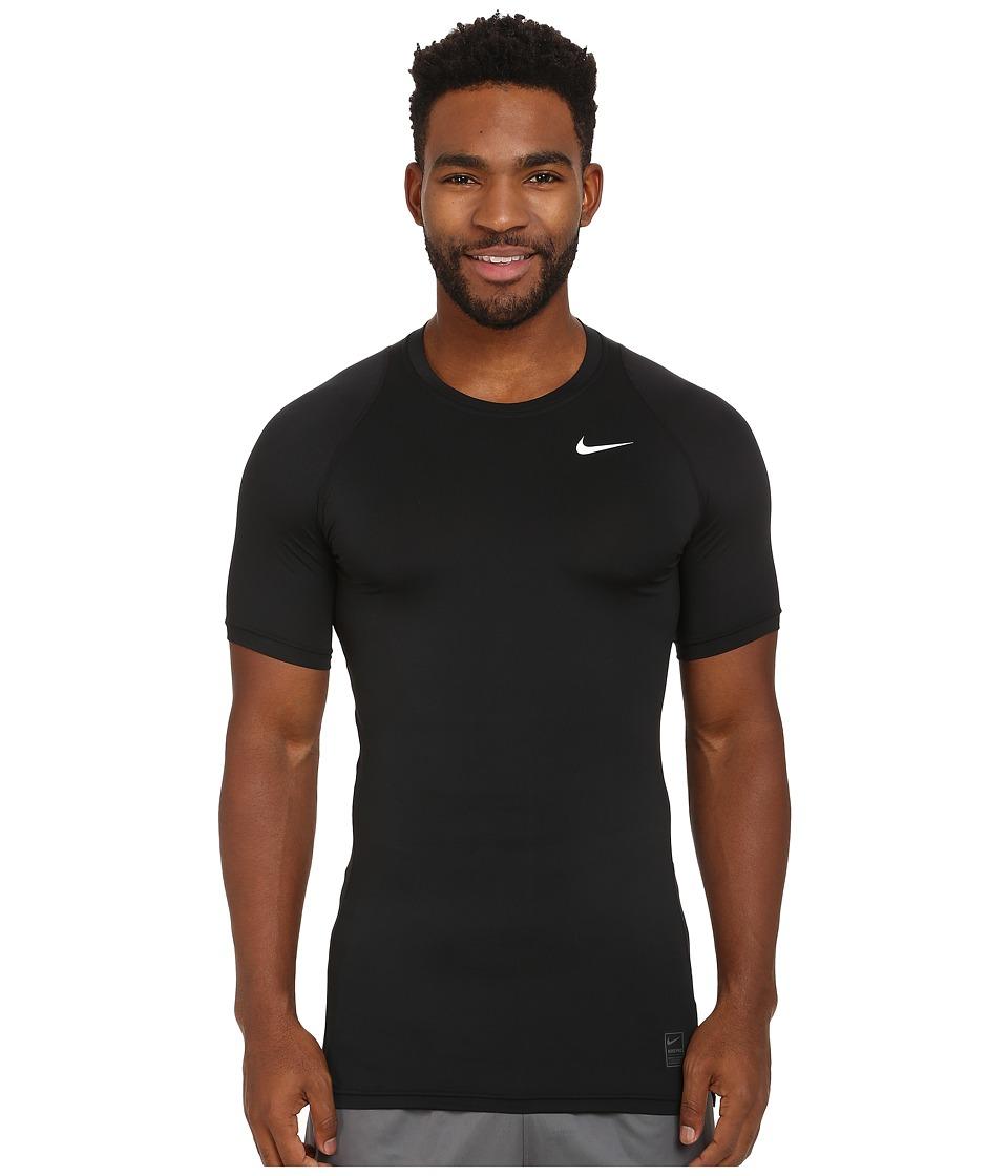 Nike Pro Cool Compression S/S (Black/Dark Grey/White) Men