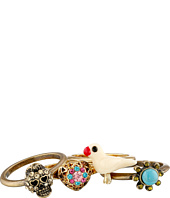 Betsey Johnson - Turquoise & Caicos Set Of 5 Rings