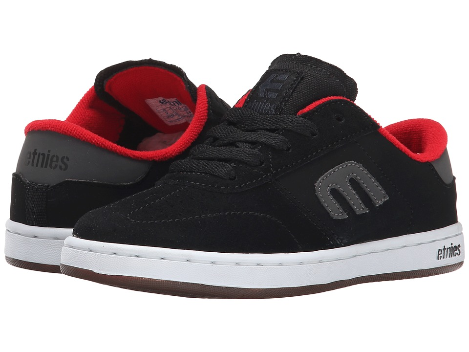 etnies Kids Lo Cut Toddler/Little Kid/Big Kid Black Boys Shoes