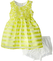 Us Angels - Cap Sleeve Embroidery Organza/Stripe (Toddler)