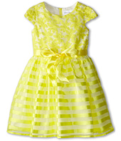Us Angels - Cap Sleeve Embroidery Organza/Stripe (Little Kids)
