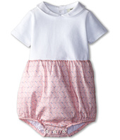 Fendi Kids - Short Sleeve Bubble Rompers w/ Printed Bottom (Infant)