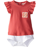 Fendi Kids - Ruffle Sleeve Body w/ Chest Logo (Infant)