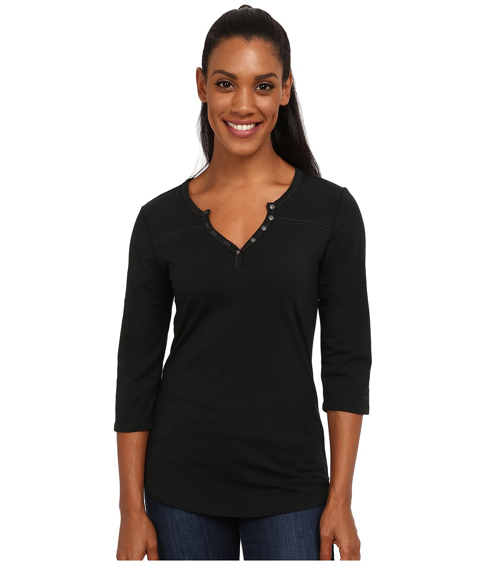 Kuhl Belmont 3/4 Sleeve Top Raven Womens Short Sleeve Pullover