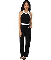 Calvin Klein - Halter Color Blocked Jumpsuits