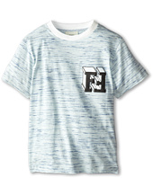 Fendi Kids - Short Sleeve Tee w/ Chest Block Logo Detail (Little Kids)
