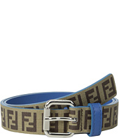 Fendi Kids - Leather Allaround Logo Belt w/ Contrast Inner (Toddler/Little Kids/Big Kids)