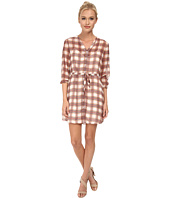 Jack by BB Dakota - Taja Neon Plaid Slit Sleeve Dress