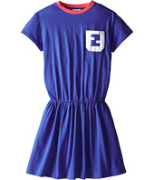 Fendi Kids - Short Sleeve Dress w/ Monogram Logo (Big Kids)