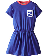 Fendi Kids - Short Sleeve Dress w/ Monogram Logo (Little Kids)