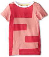 Fendi Kids - Large Logo Short Sleeve Tee (Little Kids)