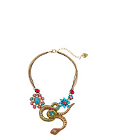 Betsey Johnson - Turqs and Caicos Snake Frontal Necklace