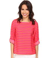 Calvin Klein - 3Q Sleeve Stripe Pullover