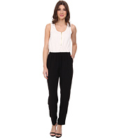 Calvin Klein - Pebble Crepe Color Block Jumpsuits