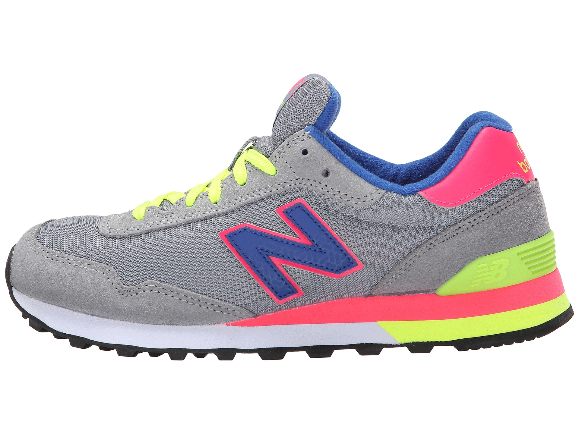New Balance Classics 515 - Neon Pop Grey/Pink - Zappos.com