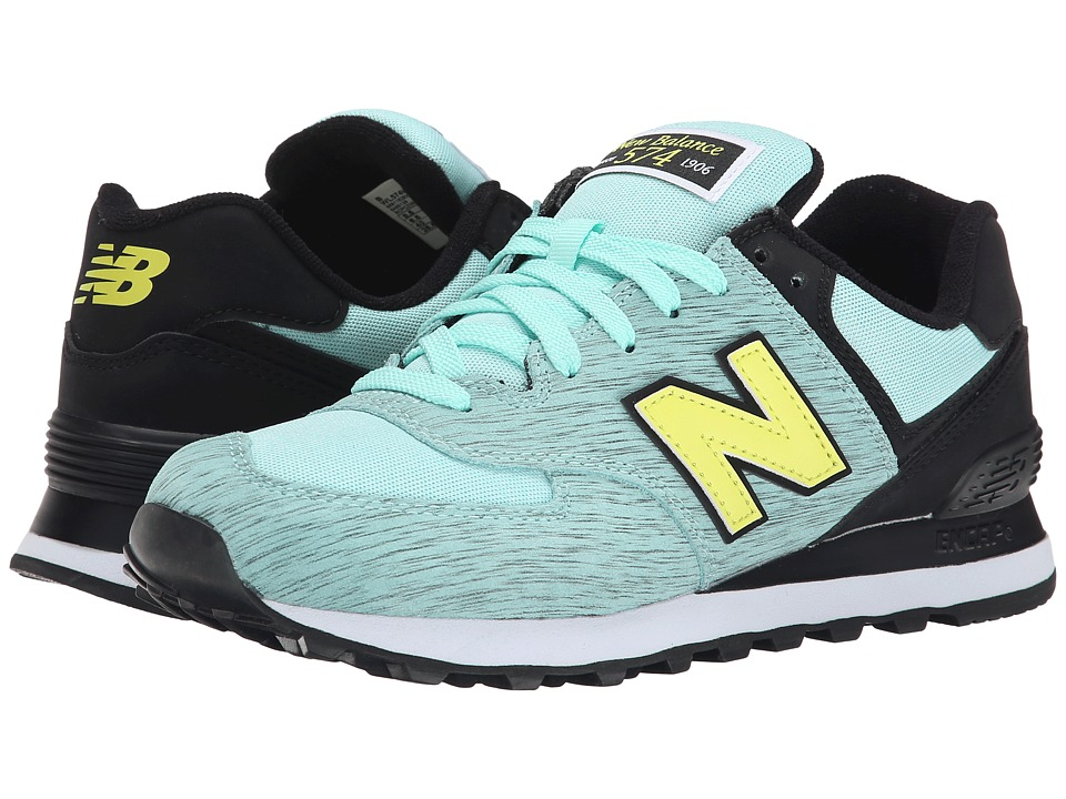 New Balance Classics 574 Sweatshirt Aqua Womens Shoes